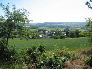 Blick auf Reddehausen von der Grillhütte
