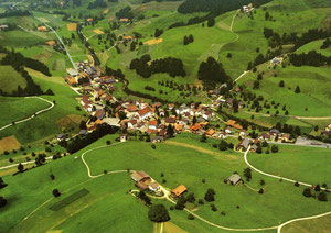 Luthern Dorf, Ansichtskarte Luftaufnahme 1983  (LD 29)