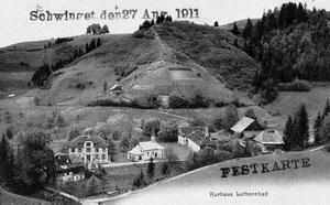 Luthern Bad, Sicht von Niespelstrasse, Schwingfestkarte 1911   (LB 8)