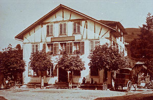 Luthern Dorf, Gasthaus Alpenrösli (vis à vis Krone) geschlossen 1913  (AR 1)