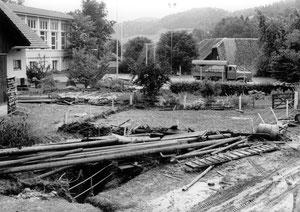Luthern, Schwarzenbach und Schulhausplatz, Überschwemmung 24. Juli 1972  (UW 9)