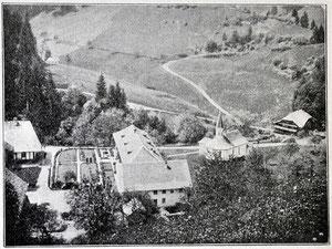 Luthern Bad, Ansicht von Nordosten auf Kloster mit Garten, noch ohne Gasthaus Hirschen, 1902  (LB 5)