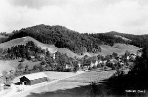 Hofstatt, Ansicht um 1950, vor Kiesabbau  (Ho 2)