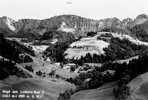 Luthern Bad, Ansichtskarte Krutzi in Richtung Napf  (LB 21)