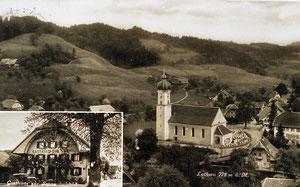 Luthern Dorf, mit Gasthaus Sonne, Ansichtskarte mit Stempel 1936  (LD 14)