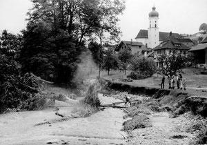 Luthern Wolfmättli und Luther, Überschwemmung 24. Juli 1972  (UW 7)
