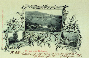 Luthern Dorf, Gruss aus Luthern, Pfarrer Augner, Poststempel 6. Aug. 1899  (LD 6)