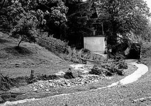 Luthern, Wallenbach beim Stalden, Unwetterschäden 24. Juli 1972  (UW 10)