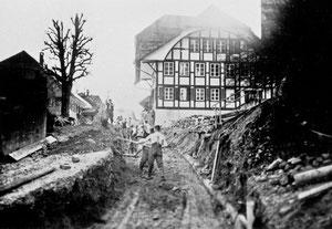 Luthern Dorf, Der Hörnlistutz zwischen Krone und Sonnenplatz wird abgetragen und verflacht  (DS 1)