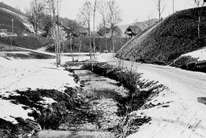 Luthern Bad, Ausbau Hauptstrasse, Abschnitt Kutzi vor dem Ausbau  (LBS 7)