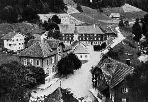 Luthern Bad, mit Hirschen und Wallfahrtskapelle, Foto Alfred Peter um 1939  (Hi 5)