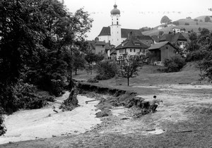 Luthern Wolfmättli und Luther, Überschwemmung 24. Juli 1972  (UW 6)