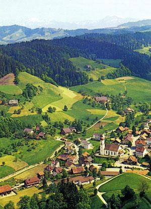 Luthern Dorf, Ansichtskarte Sicht vom Heuberg, um 1978  (LD 28)
