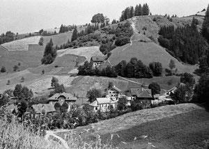 Luthern Bad, mit Alpenblick anstelle der Waldbruderklause, Foto von Friebel Sursee, ab Glasnegativ  (LB 17)