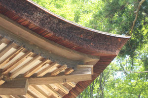 Japanese-cypress-bark shingles