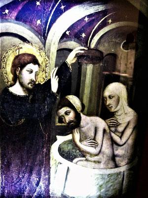 Taufe von Juden - Christus selbst tauft sie (Darstellung im Jüd. Museum)