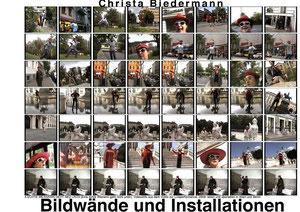 Bildwände und Installationen, Werkkatalog von Christa Biedermann