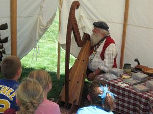 Harping Santa