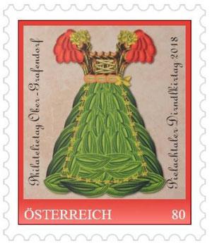 Briefmarke, Dirndl, Collage, Pielachtaler Dirndlkirtag