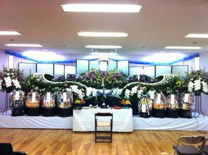 3間飾り花祭壇