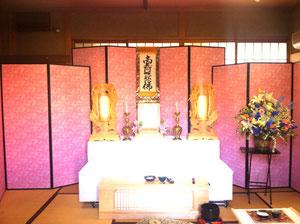 佃斎場祭壇