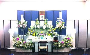 洋花での祭壇
