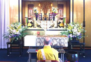 章園寺会館にて一日葬