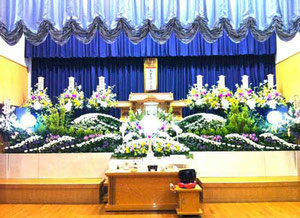 平群野菊の里 花祭壇