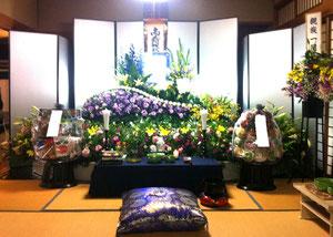 広陵町営斎場での花祭壇