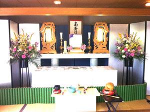 生駒市営斎場控室 祭壇