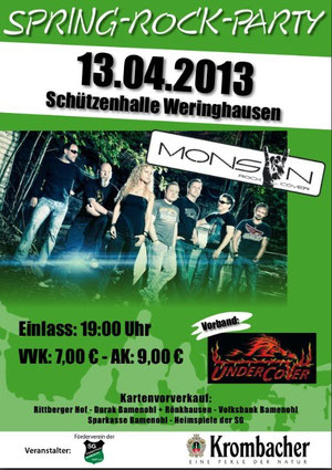 Spring Rock in Weringhausen mit Monsun
