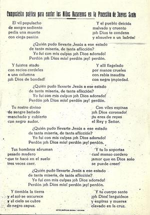 Letra de Vil Populacho
