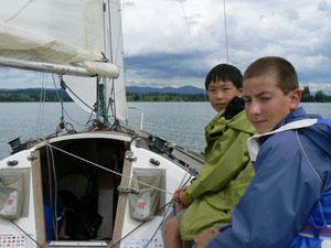 Juniorentraining auf Yachten