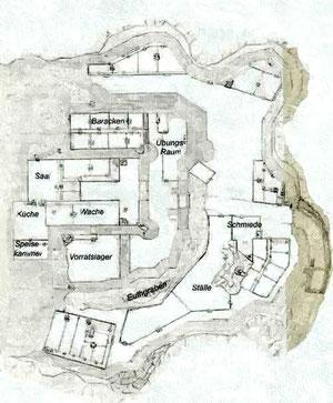 Grundriss der ehemaligen Raubritterburg