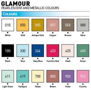 Gamma colori Cernit Glamour da:Panetti da 62 gr: euro 1,70 e da 250 gr