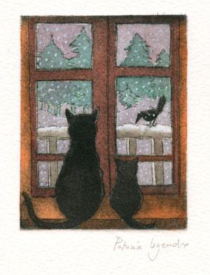 dehors la neige