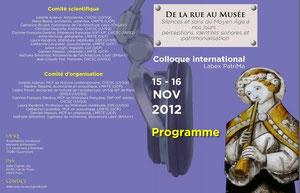 Silences et sons du Moyen Âge à nos jours : perceptions, identités sonores et patrimonialisation, Versailles, Novembre 2012