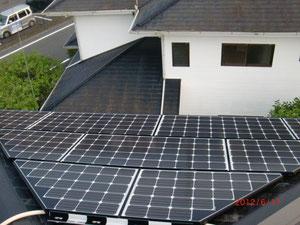 太陽光工事 パネル取付後
