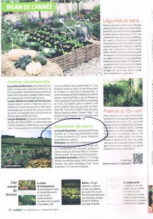 Article Rustica N° 2243/2244 du 19 décembre 2012