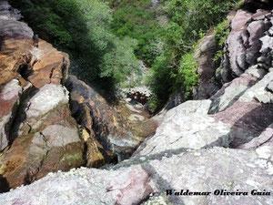 Vista por cima da cachoeira do Fundão.