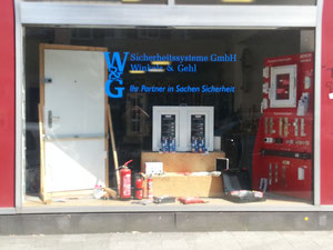Ansicht Schaufenster Tür- und Fenstersicherheitstechnik