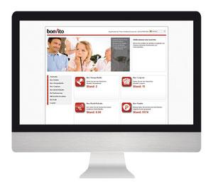 bonVito Webseite für Endkunden