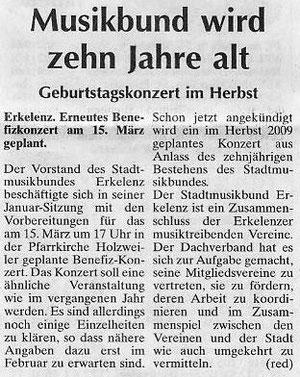 Report am Sonntag 1. Feb.2009