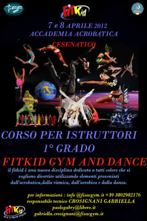 corso per tecnici fitkid gym and dance