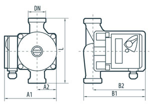 Схема производительности циркуляционного насоса SXR32/8G.