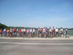 20km vor dem Ziel ein Gruppenfoto