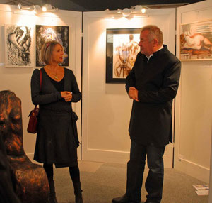 with Rainer MaGold in his gallery