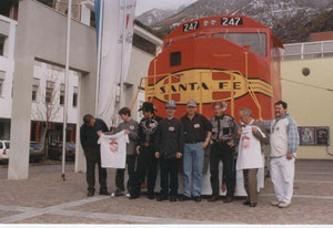 "La locomotiva Santa Fe SD 75 in scala 1:1 costruita per la mostra ""American Trains"""