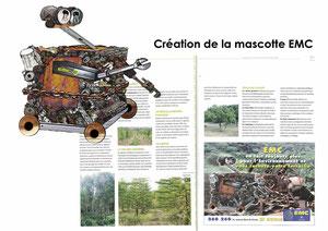 """Création de la """" mascotte"""" EMC - et mise en page de divers supports de communication"""