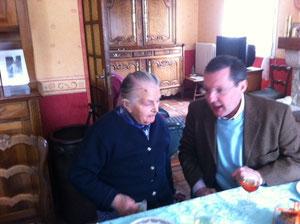 Anniversaire des 103 ans de Mme Gilbert, à Saint-Maur-des-Bois le 31 mars dernier